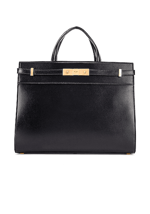 Saint Laurent Small Manhattan Shopping Bag in Black - Black. Size all.