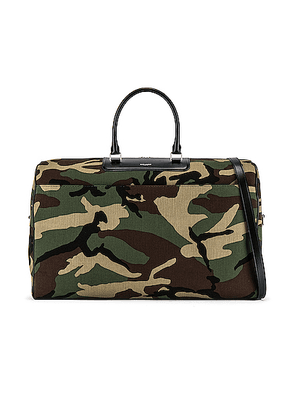 Saint Laurent Duffel Bag in Camo & Black - Camo,Green. Size all.