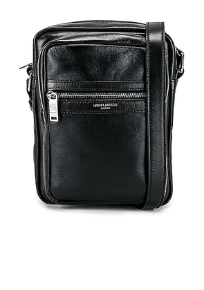 Saint Laurent Crossbody Pouch in Black - Black. Size all.