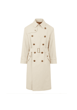 Oyster Cotton Al Trench Coat