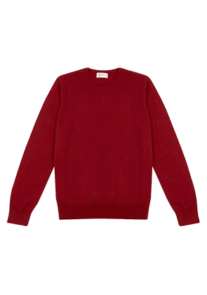 Red Round-Neck Cashmere Sweater