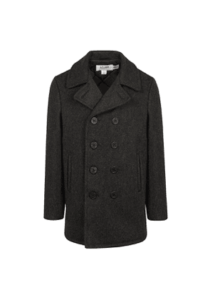 Oxford Grey Reprocessed Wool US Navy-Style Peacoat