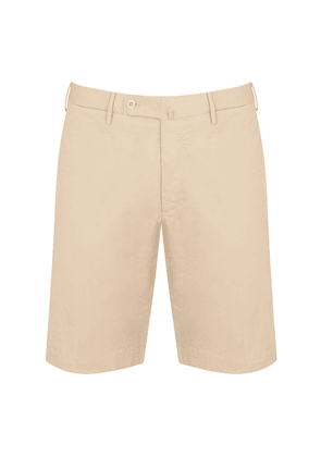 Stone Washed Cotton Tailored Bermuda Shorts
