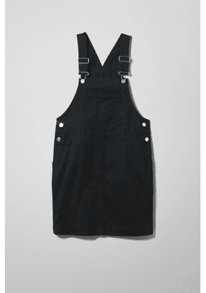 Olive Dungaree Dress - Black