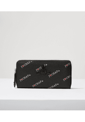 Annie Zip Round Wallet Black