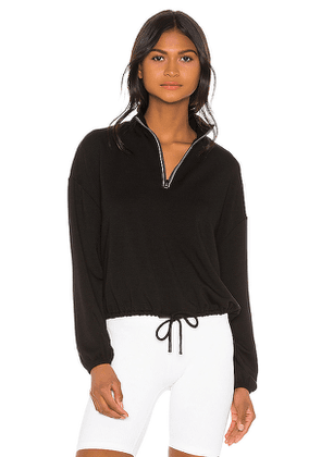 Beyond Yoga By Request Cropped Pullover in Black. Size M,S,XS.
