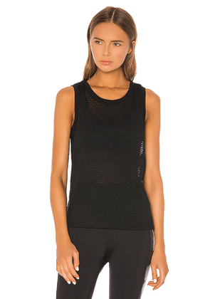 Beyond Yoga Mesh Me Up Muscle Tank in Black. Size M,S,XS.