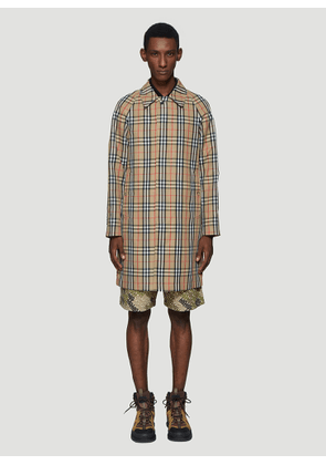 Burberry Vintage Check Car Coat in Brown size EU - 46