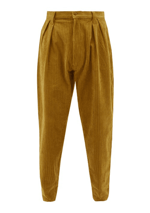 E. Tautz - Chore Cotton Corduroy Tapered Trousers - Mens - Yellow
