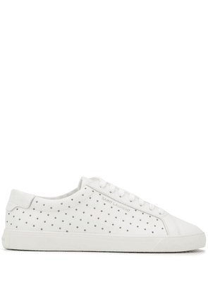 Saint Laurent embellished Andy sneakers - White