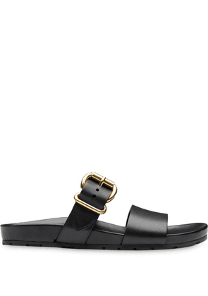 Prada buckled detail sandals - Black
