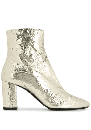 Saint Laurent Platino ankle boots - Gold