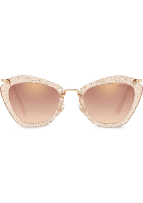 Miu Miu Eyewear mirrored Noir sunglasses - Gold