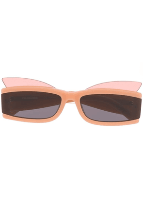 COURRÈGES EYEWEAR rectangular frame sunglasses - Neutrals