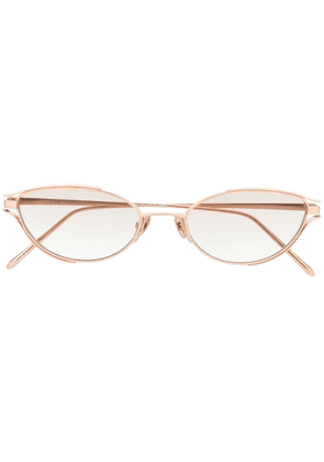 Linda Farrow Cradle cat eye sunglasses - Gold