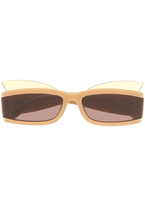 COURRÈGES EYEWEAR rectangular frame sunglasses - Brown