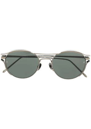 Linda Farrow Violet oval sunglasses - Grey