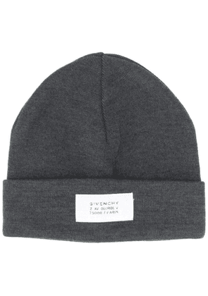 Givenchy ribbed beanie hat - Grey