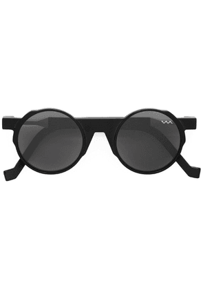 Vava round framed sunglasses - Black