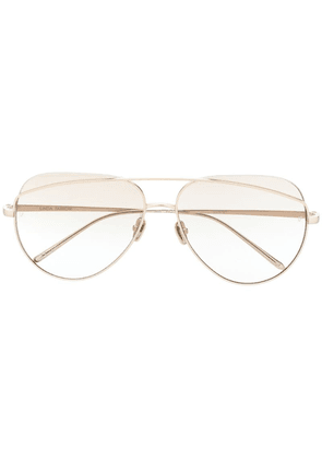 Linda Farrow Colt aviator sunglasses - Gold