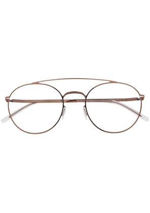 Mykita double-bridge glasses - Brown