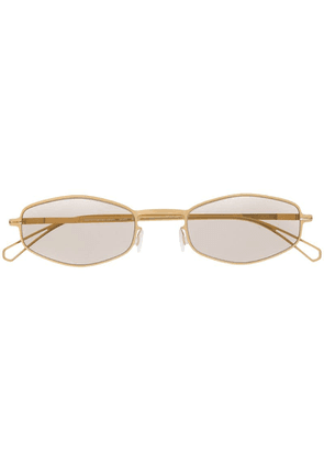 Mykita oval frame sunglasses - Gold
