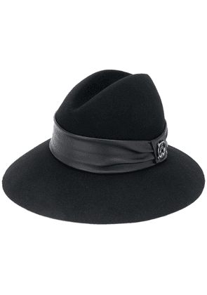 Patrizia Pepe wool and leather hat - Black