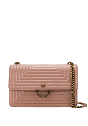 Pinko ornate ring shoulder bag - Neutrals