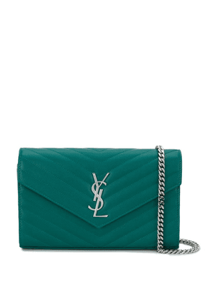 Saint Laurent Monogram chain wallet - Green