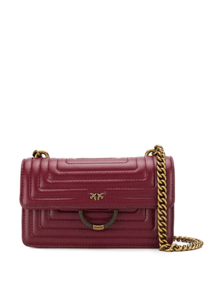 Pinko ornate ring shoulder bag - Red