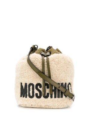 Moschino logo print shoulder bag - Neutrals