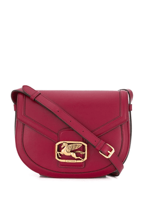 Etro Pegasus plaque shoulder bag - Red
