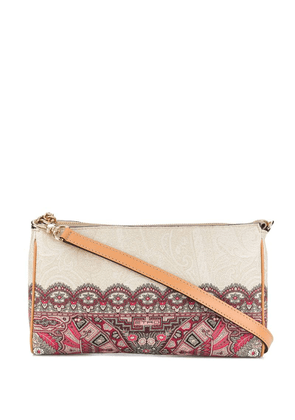 Etro geometric lace print bag - Neutrals