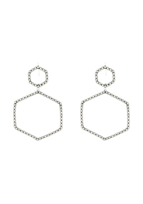 Isabel Marant here it is crystal hexagon earrings - Metallic