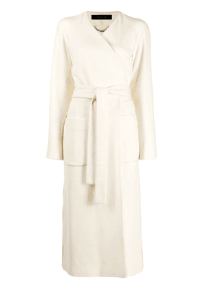 Federica Tosi belted wrap coat - White