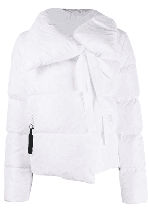 Bacon feather down puffer jacket - White