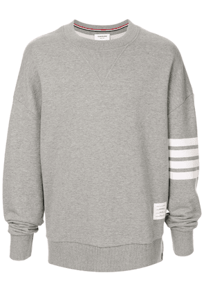 Thom Browne 4-Bar oversized sweatshirt - Grey