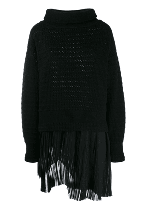 Diesel Black Gold layered knitted jumper