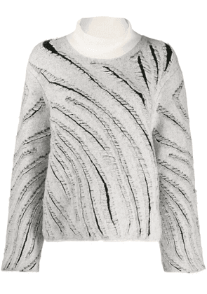 3.1 Phillip Lim diagonal knitted stripes jumper - White