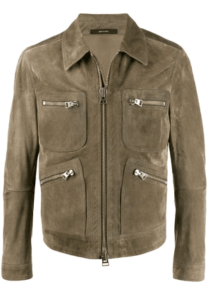 Tom Ford zip-front lightweight jacket - Green