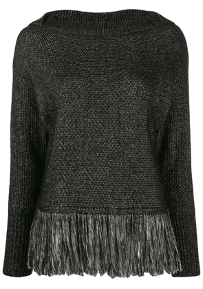 Blumarine fringed jumper - Black