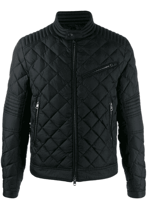Moncler high buttoned collar down jacket - Black