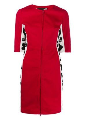 Love Moschino Love panelled dress - Red