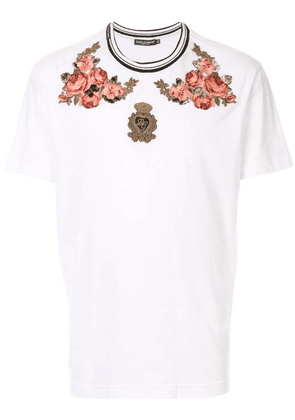 Dolce & Gabbana embroidered T-shirt - White