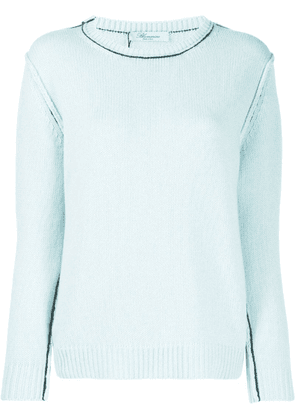 Blumarine ribbed jumper - Blue