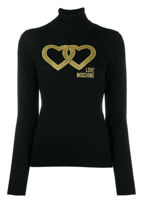 Love Moschino linked heart jumper - Black