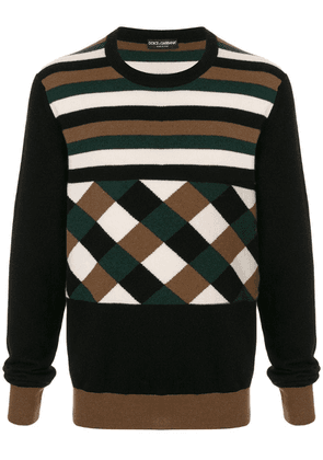 Dolce & Gabbana crew neck sweater - Brown