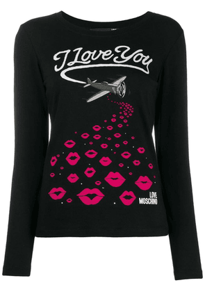 Love Moschino I Love You T-shirt - Black