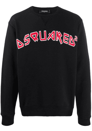 Dsquared2 logo print sweatshirt - Black