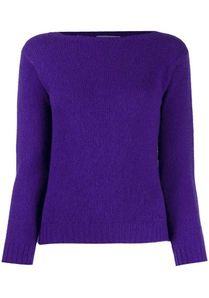 Prada embroidered logo jumper - Purple